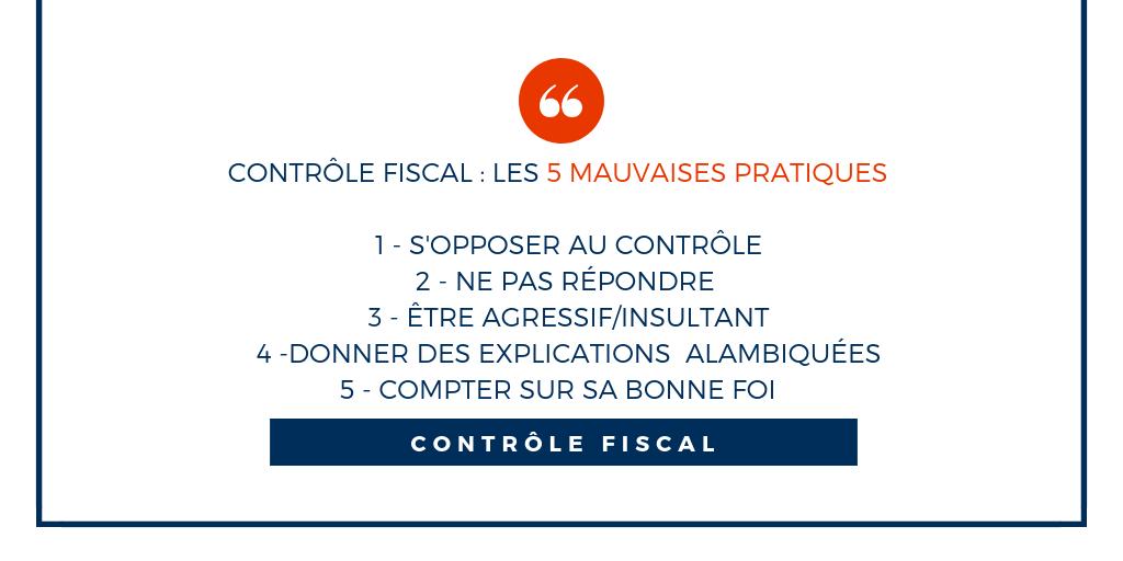 controle fiscal mauvaises pratiques