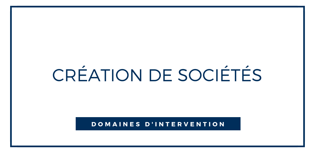 creation societe